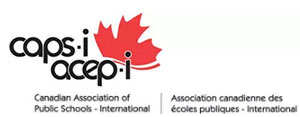 Association canadienne des ecoles publiques - international logo