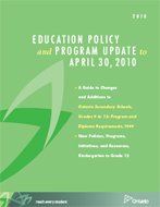 Education Policy and Program Update cover page