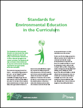 Standards for Environmental Education in the Curriculum cover page