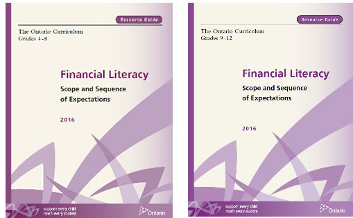 Financial Literacy; Scope and Sequence of Expectations cover pages